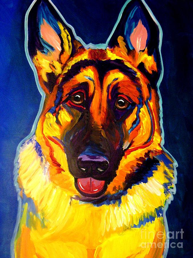 Dog Painting - German Shepherd - Sengen by Alicia VanNoy Call