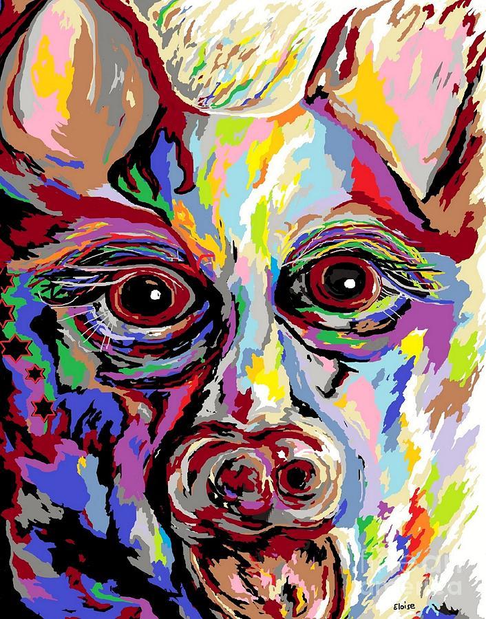 German Painting - German Shepherd by Eloise Schneider