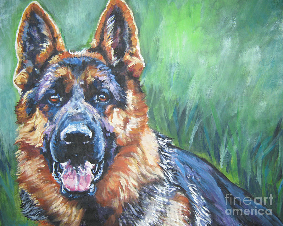 German Shepherd Painting - German Shepherd by Lee Ann Shepard