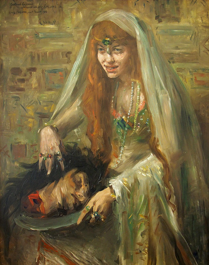 Gertrud Eysoldt As Salome Painting By Lovis Corinth