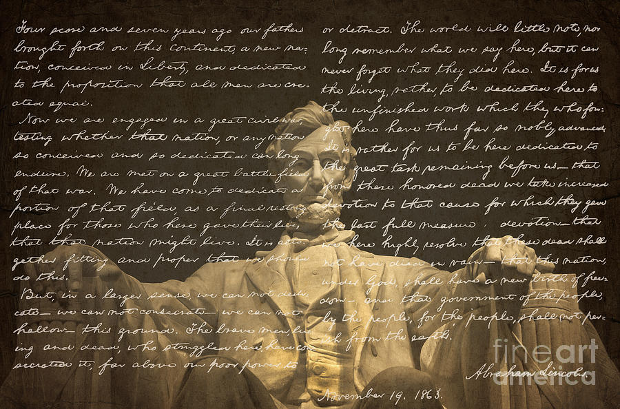 """a literary analysis of lincolns gettysburg address Summary and analysis of lincoln's """"gettysburg address"""" abraham lincoln's gettysburg address is often cited as the most powerful speech in american history."""