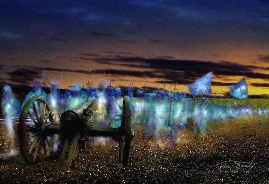 Civil War  Digital Art - Gettysburg Confederates by Tom Straub