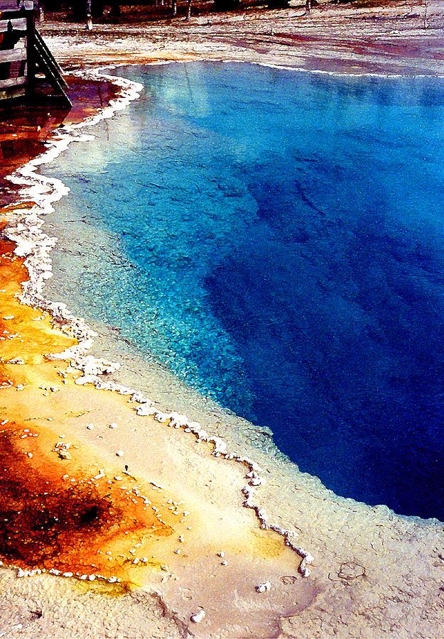 Geyser Photograph - Geyser Basin by Nancy Mueller