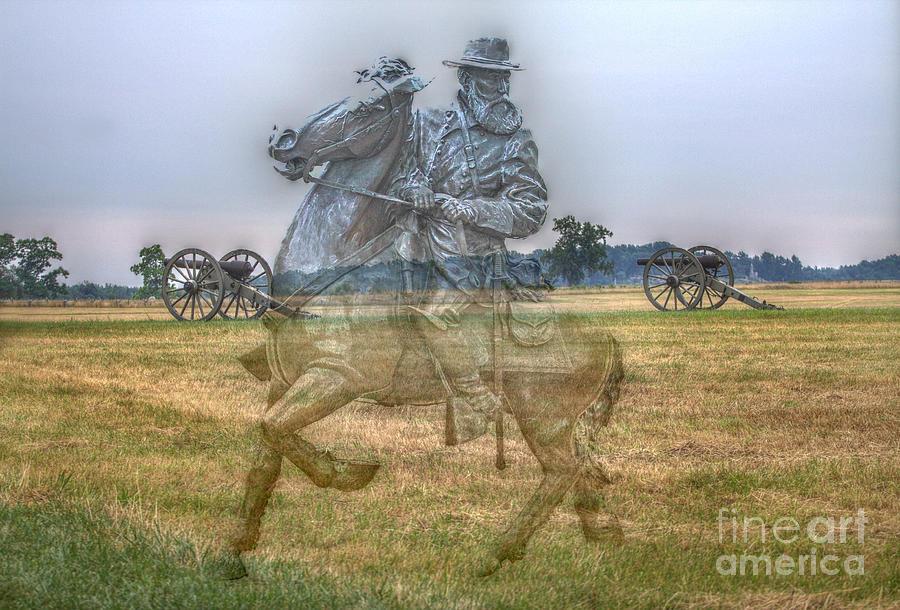 Gray Ghost Digital Art - Ghost Of Gettysburg by Randy Steele
