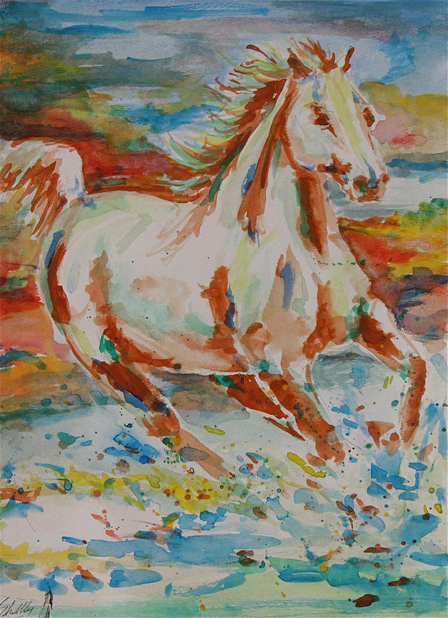 Horse Painting - Ginger by Shellby Young