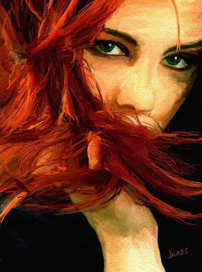 Impressionism Painting - Girl Portrait 08 by James Shepherd