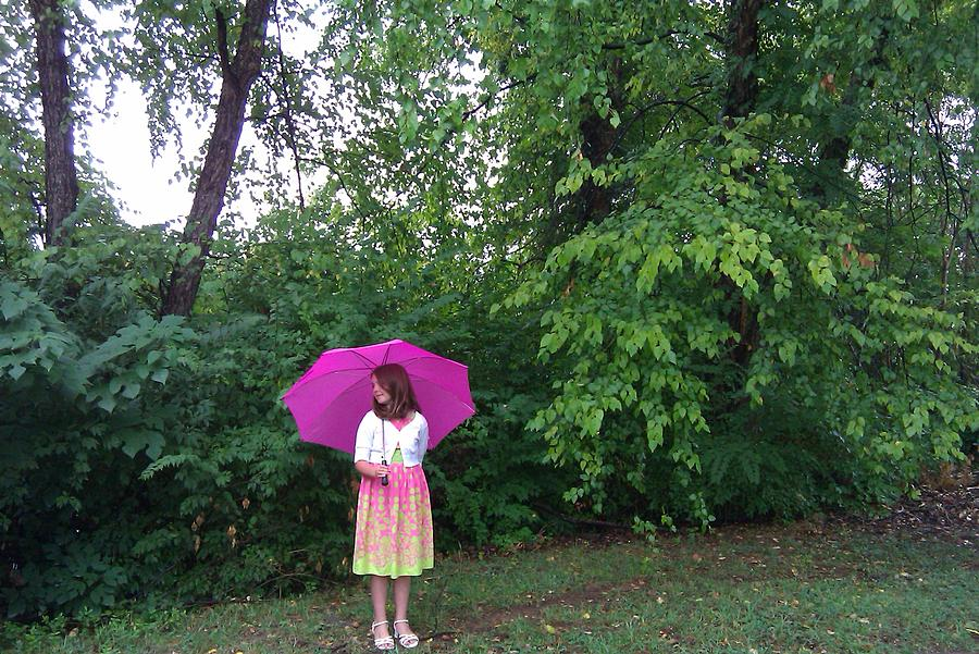Pink Photograph - Girl With Pink Umbrella by B L Qualls