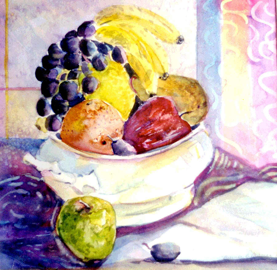 Fruit Painting - Giving Thanks by Mindy Newman