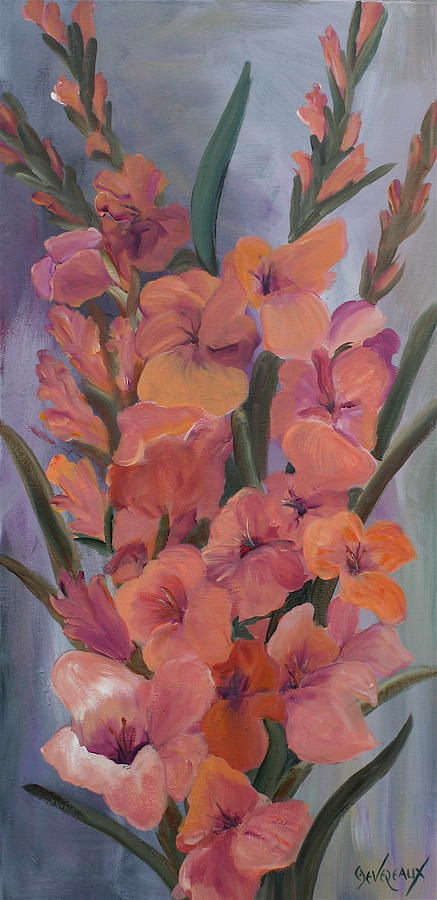 Gladiolus Painting by Cher Devereaux