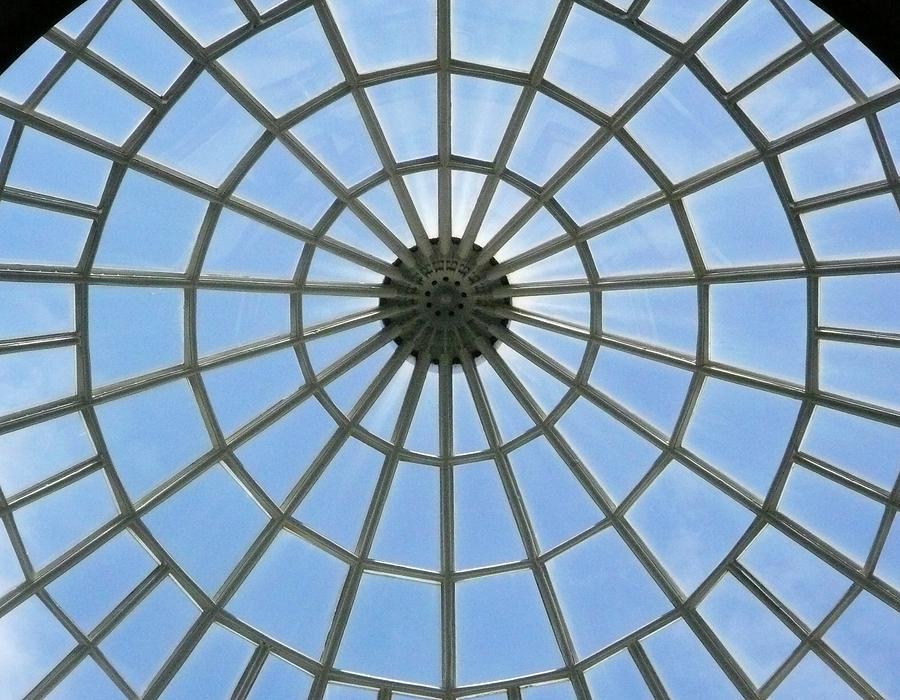 Glass Photograph - Glass Dome At Hall Of Liberation At Kelheim  by Lori Seaman