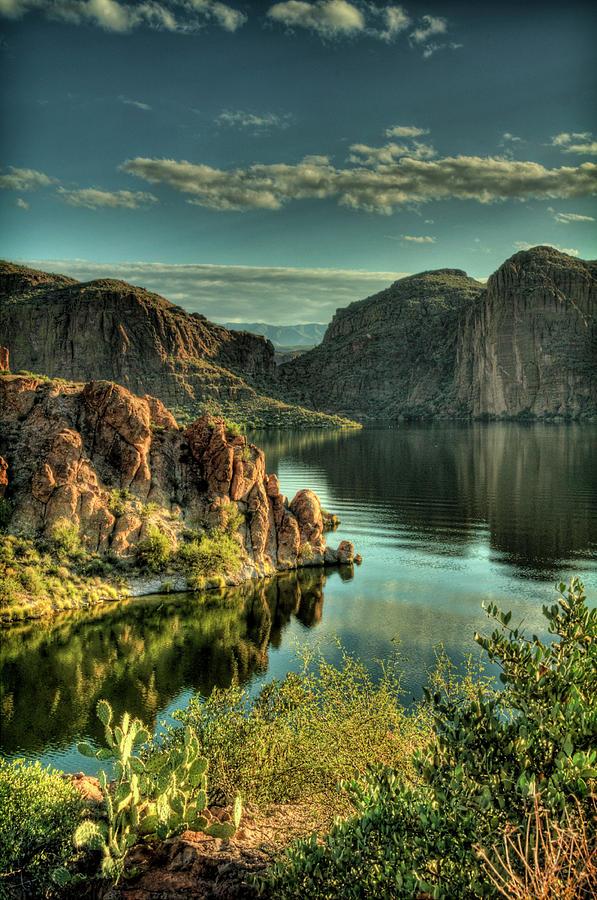 Arizona Photograph - Glass Lake by Saija  Lehtonen