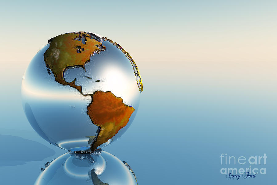 North America Painting - Globe by Corey Ford