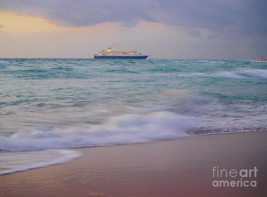 Boat Photograph - Glorious Emerald Sea by E Luiza Picciano