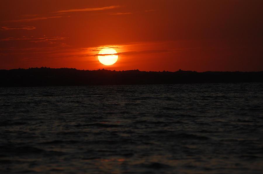 Sunset Photograph - Glowing Sunset by Heather Chaput