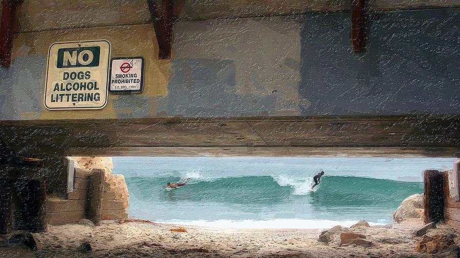 San Clemente Photograph - Go Right  Go Left by Ron Regalado