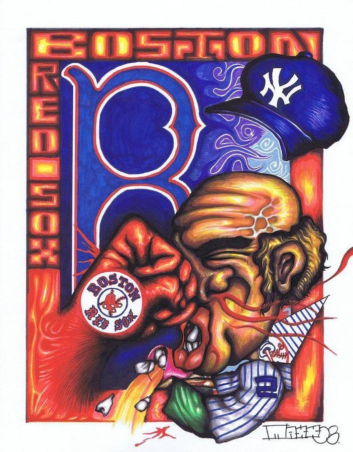 Boston Red Sox Drawing - Go Sox by Maxx Kim