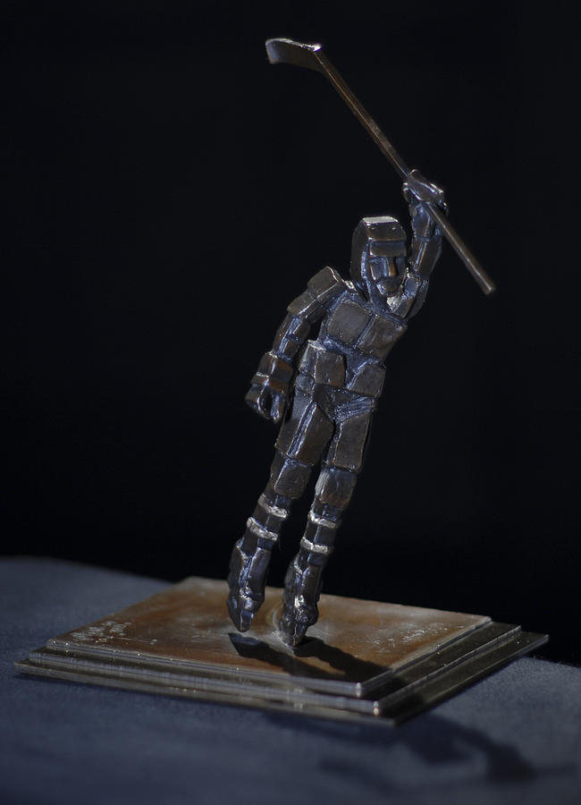 Ice Hockey Sculpture - Goal By Yack by Ken Yackel