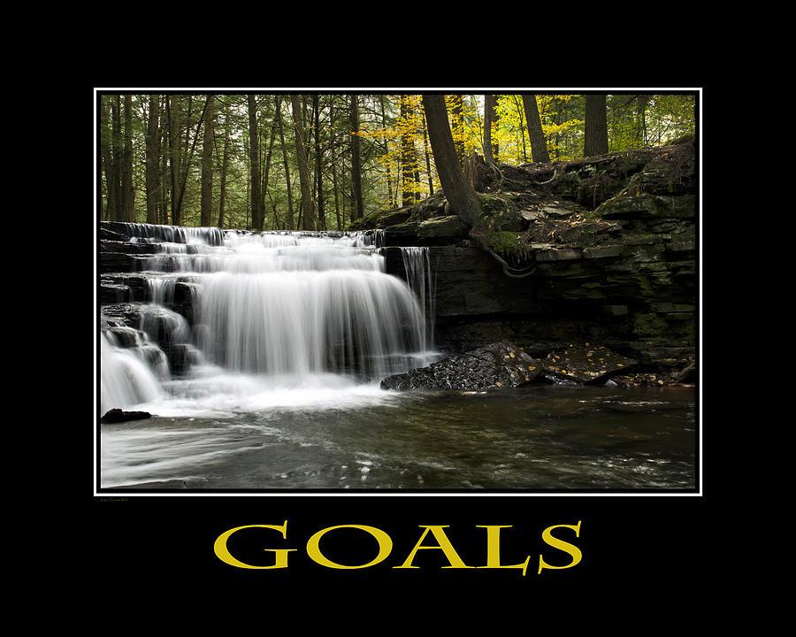 Goals Inspirational Motivational Poster Art Digital Art