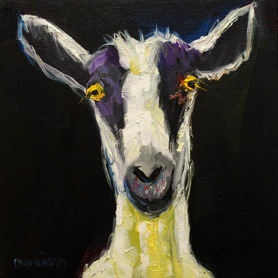 Goat Gloat Painting by Diane Whitehead
