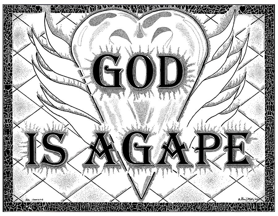 God Drawing - God Is Love - Agape by Glenn McCarthy Art and Photography