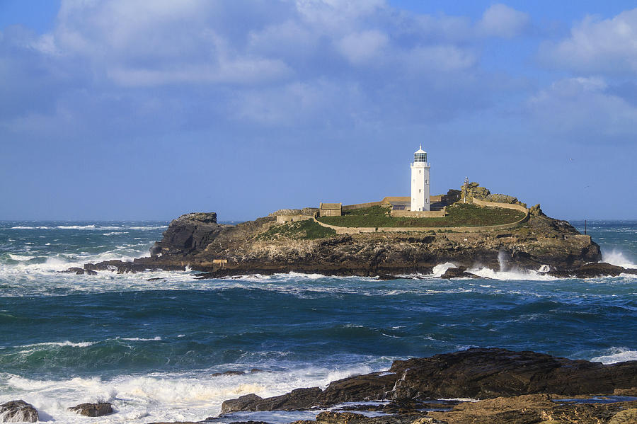 Godrevy Lighthouse Cornwall Uk Photograph By Chris Smith