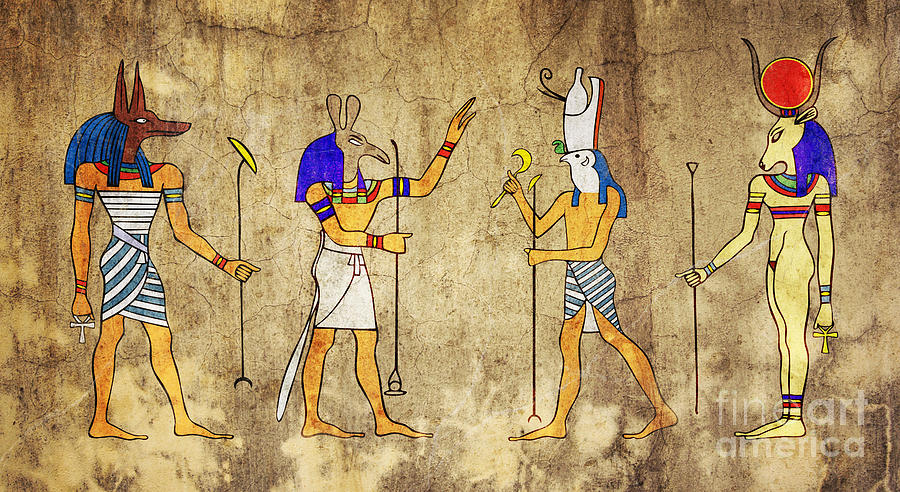 Anubis Digital Art - Gods Of Ancient Egypt by Michal Boubin