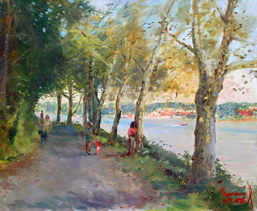 Strolling Painting - Going For A Stroll by Ylli Haruni