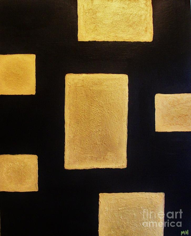 Painting Painting - Gold Bars by Marsha Heiken