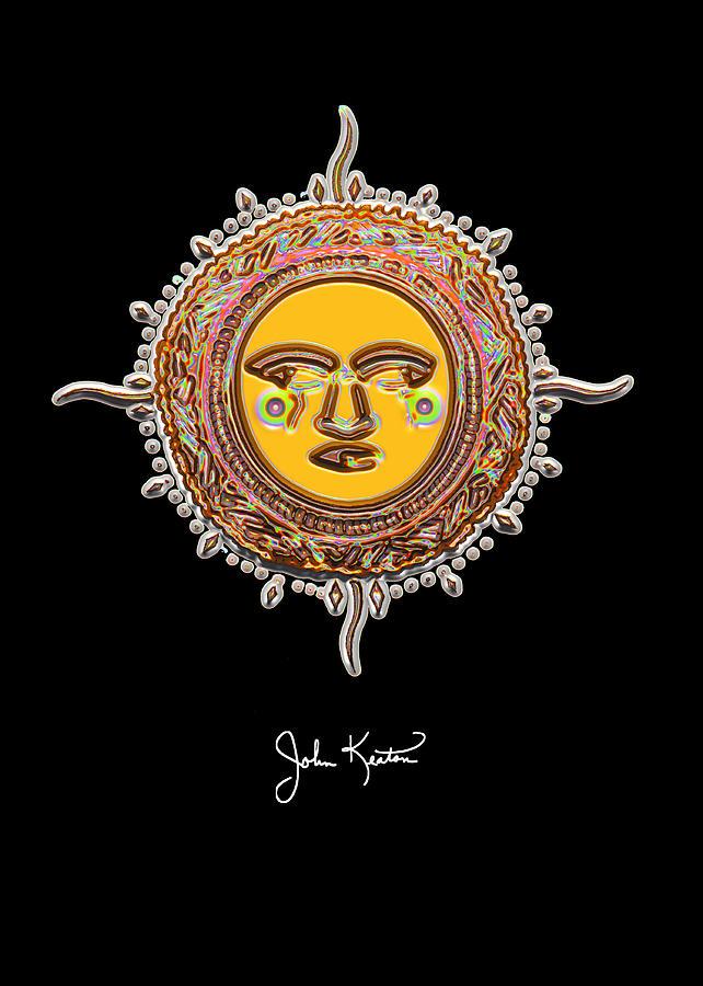 Gold Jewel Mohawk Sun Digital Art