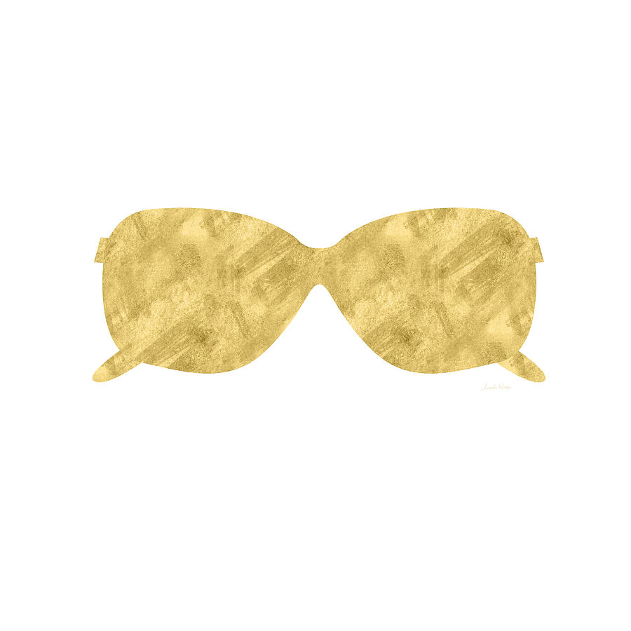 Gold Shades- Art By Linda Woods Mixed Media