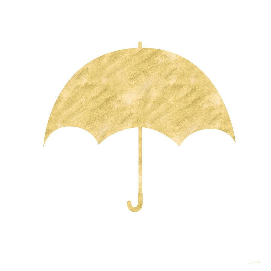 Gold Umbrella- Art By Linda Woods Mixed Media