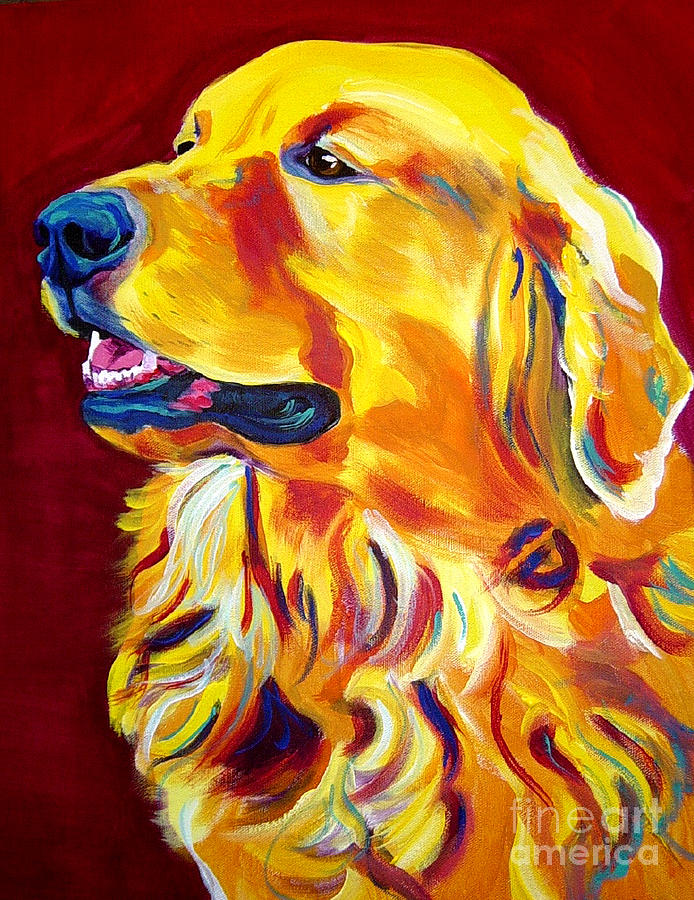Dog Painting - Golden - Scout by Alicia VanNoy Call