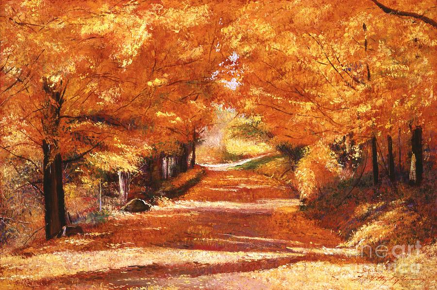 Autumn Painting - Golden Autumn by David Lloyd Glover