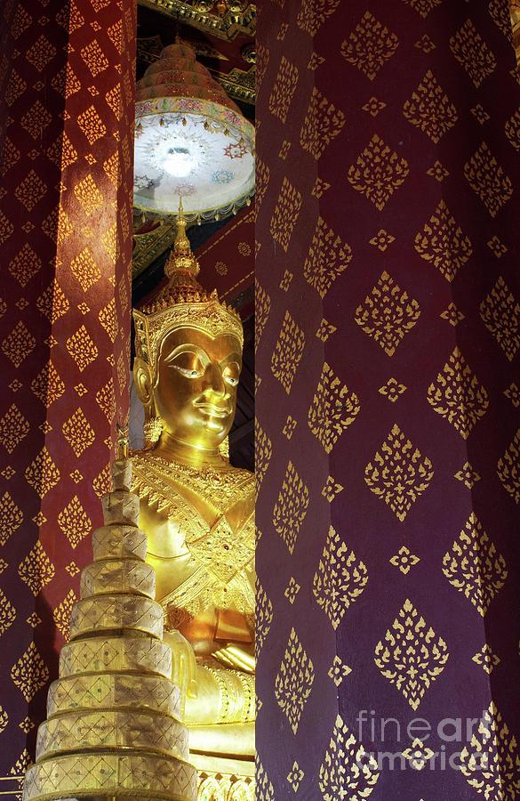 Ancient Photograph - Golden Buddha by Buchachon Petthanya