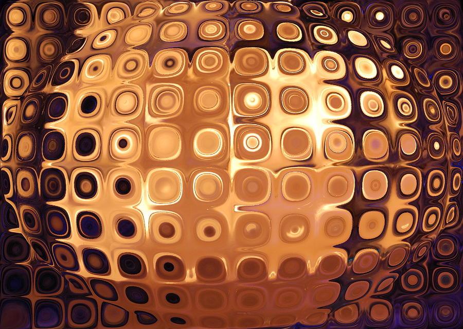 Psovart Digital Art - Golden Candle Globe by Patty Vicknair