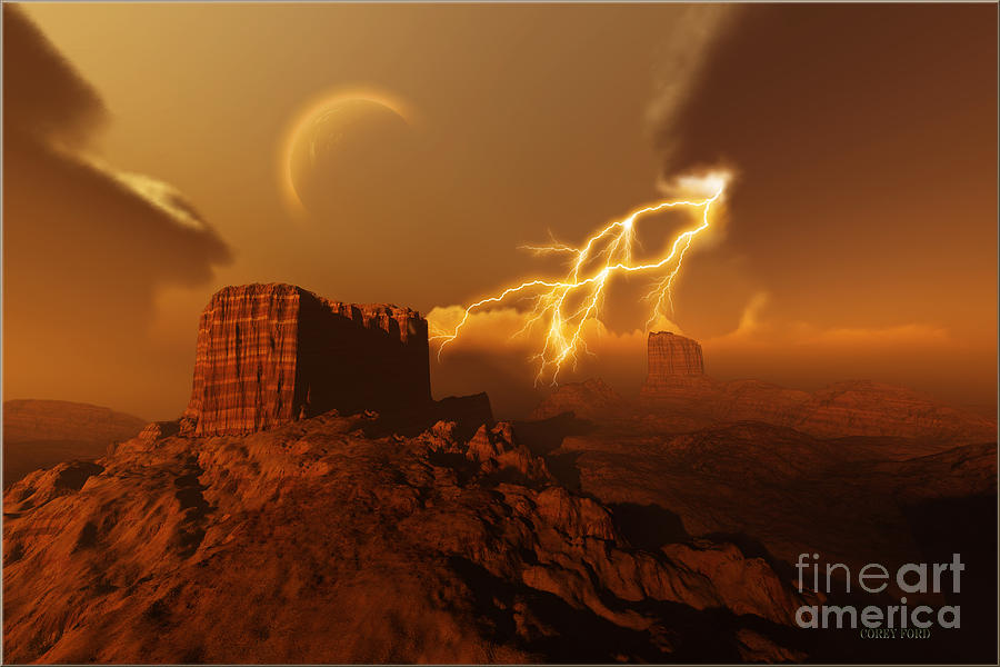 Bolt Painting - Golden Canyon by Corey Ford