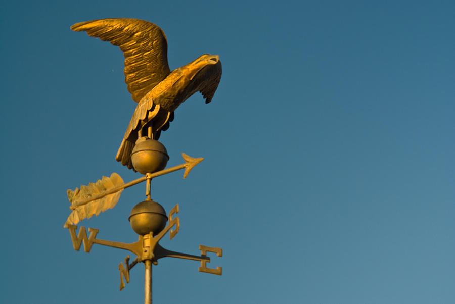 Golden Photograph - Golden Eagle Weather Vane by Douglas Barnett