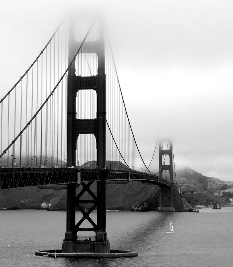 Vertical Photograph - Golden Gate Bridge by Federica Gentile