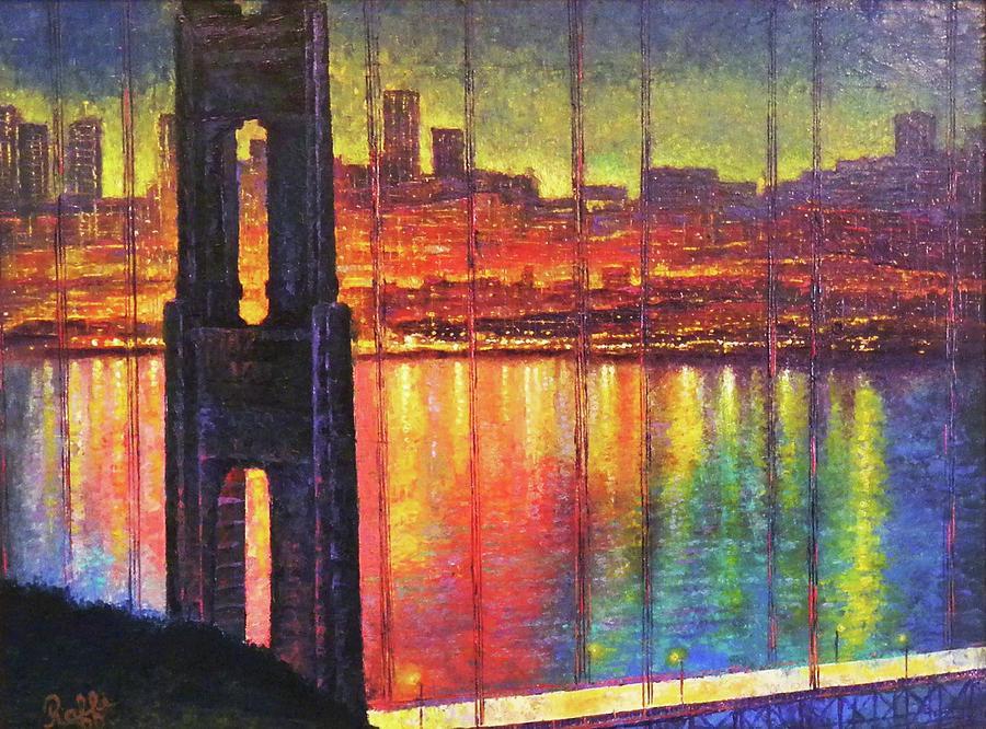 San Francisco Painting - Golden Gate Bridge by Raffi Jacobian