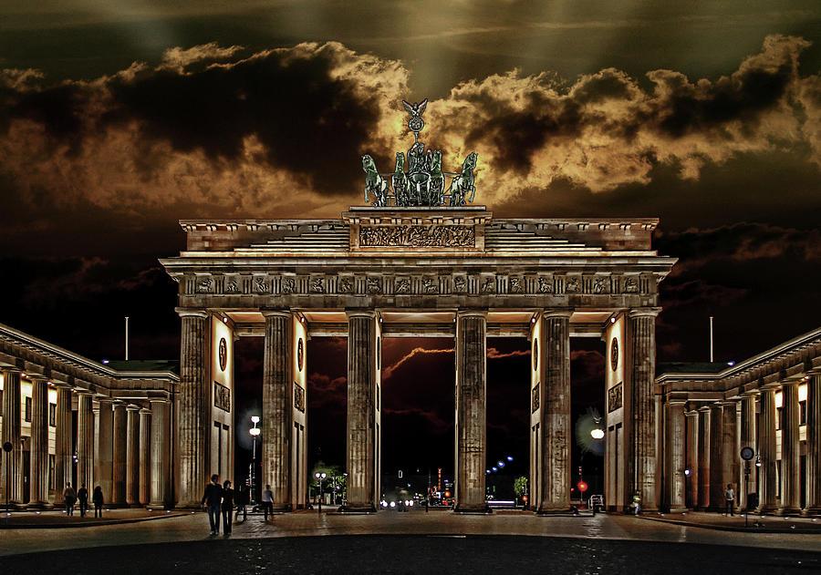 Berlin Photograph - Golden Gate by Joachim G Pinkawa