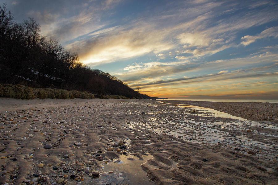 Golden Hour At The Beach Photograph