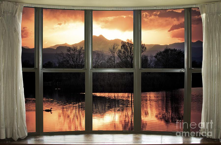 Golden Ponds Bay Window View Photograph