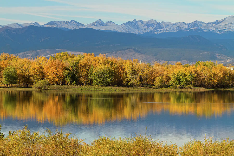 Golden Rocky Mountain Front Range View Photograph