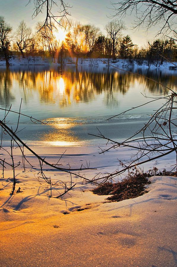 Snow Photograph - Golden Snow by Robert Pearson
