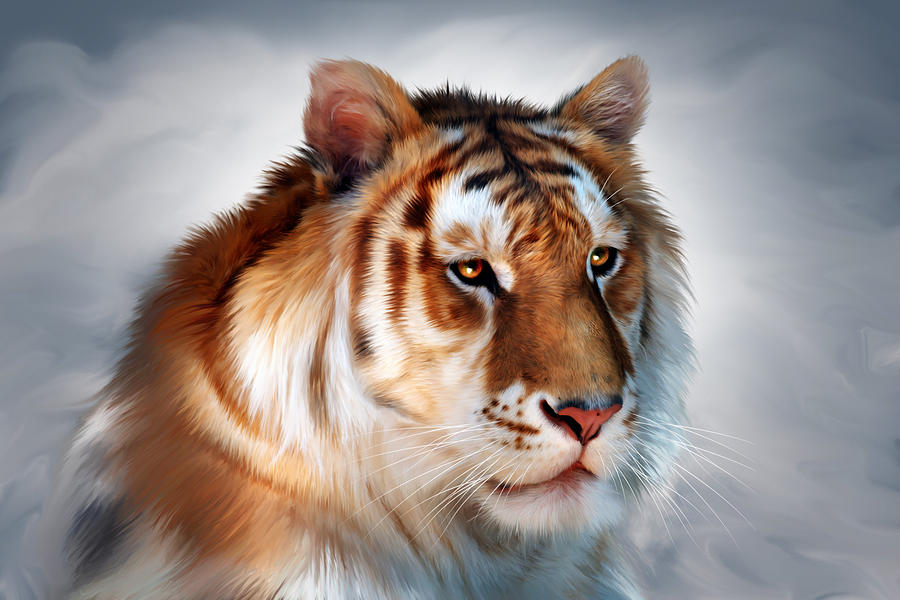 Golden Tiger Digital Art
