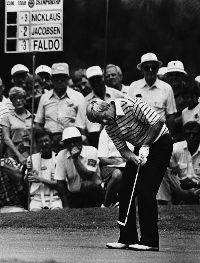 1980s Candid Photograph - Golf Pro Jack Nicklaus, August, 1984 by Everett