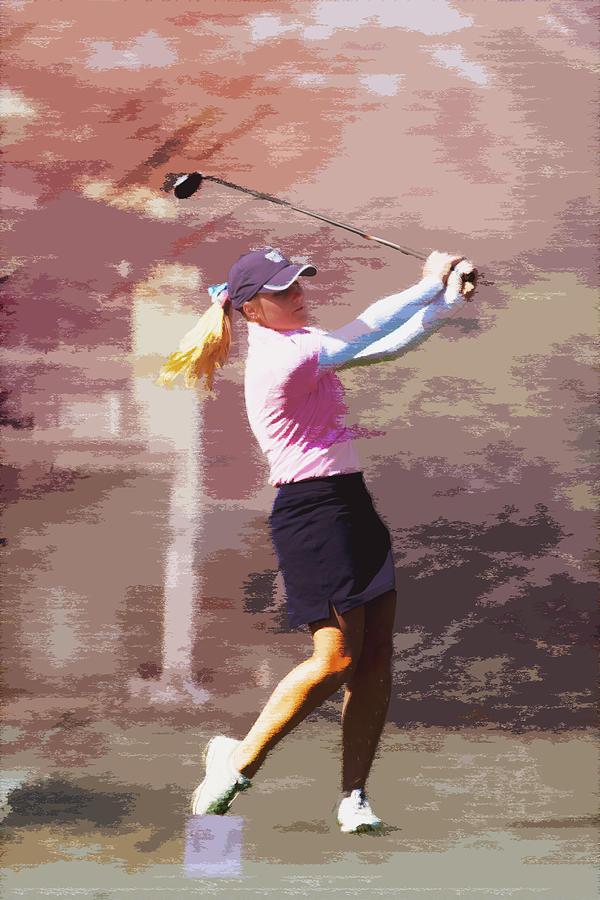 Golf Photograph - Golfer by David Haskett