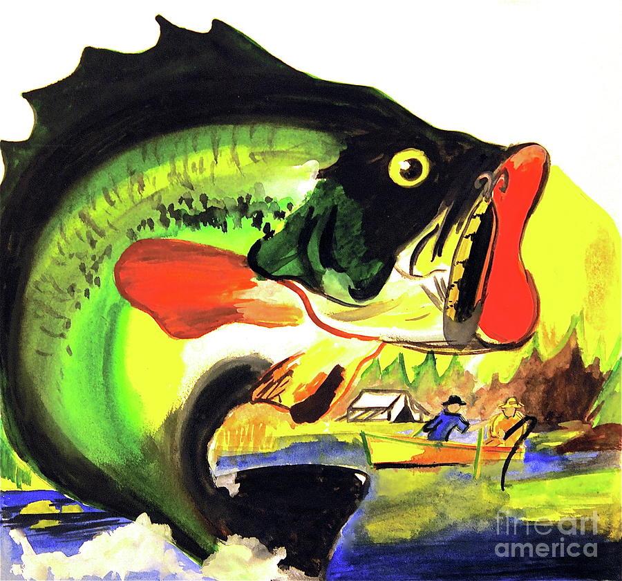 <a Href=https://twitter.com/lindalsimon Class=twitter-follow-button Data-button=grey Data-text-color=#ffffff Data-link-color=#00aeff>follow @lindalsimon</a> Fish Painting - Gone Fishing by Linda Simon