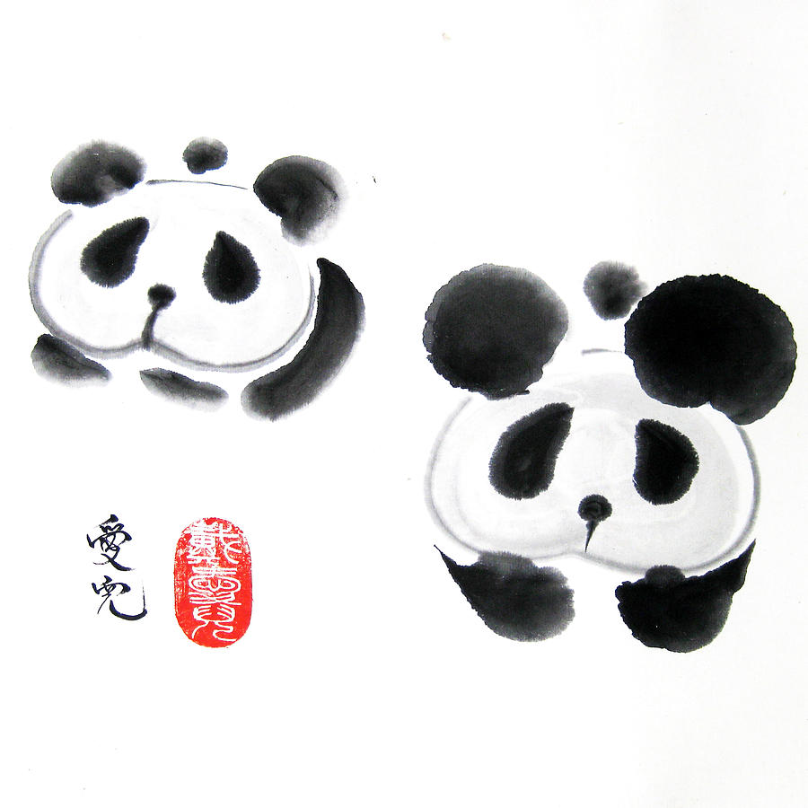 Zen Painting - Good Things Come In Pairs by Oiyee At Oystudio