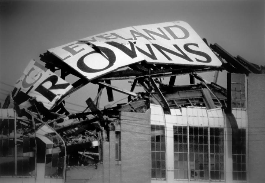 Cleveland Photograph - Goodbye Cleveland Stadium by Kenneth Krolikowski